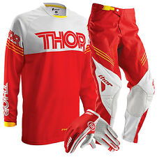 Thor NEW 2016 Youth Phase Hyperion Red Motocross Kids Gloves Pants + FREE JERSEY