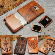 Genuine Real Natural Wood Bamboo Wooden Hard Case Cover For Samsung GALAXY S6/S7