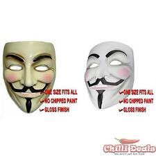 V For Vendetta Guy Fawkes Anonymous Mask Cosplay Halloween Fancy Dress Costume