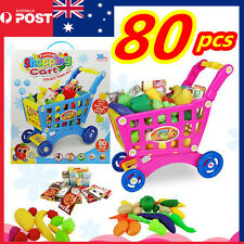 Kids Supermarket Store Children Pretend Role Play Cash Shopping Cart Trolley Toy