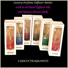 Womens Ladies Gift Set Perfume Diffuser Oil Rattan Reed Stick Scented Freshener
