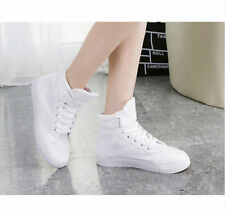 Fashion Canvas Lace Up Shoes High Tops Sneakers Skateboarding New Womens Casual