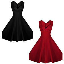 New Women  Evening Swing Vintage Casual Dress Hepburn Rockabilly Mini Dress