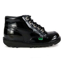 Junior Kickers Kick Hi Patent Black Leather Boots
