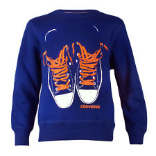 Childrens Converse Shoes Surf The Web Crew Neck Sweatshirt