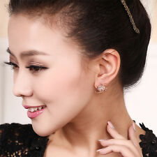 Fashion Women Girls Crystal Rhinestone Square Ear Studs Earrings Jewelry Gift