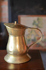 """Large Brass Jug / Pitcher with Lift Up Lid 11"""" Tall Weight 1.5KG"""