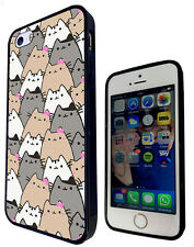 586 Sketch Cool Multi Cats Cover Rubber Case For iphone SE 4 5 5C 6 6S /6S Plus