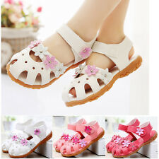 New Toddler Baby Girls Flowers Shoes Sandals Princess Flats Shoes Summer Size
