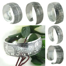 4 Style Fashion Women Chinese Totem Bangle Cuff Bracelet Tibetan Tibet Silver