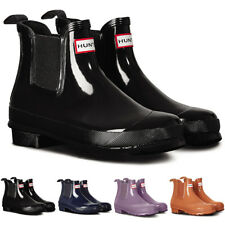 Ladies Hunter Original Chelsea Gloss Galoshes Muck Wellingtons Boots All Sizes