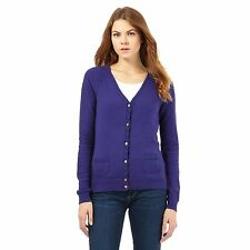 Mantaray Womens Blue V Neck Cardigan From Debenhams