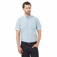 The Collection Mens Blue Checked Print Shirt From Debenhams