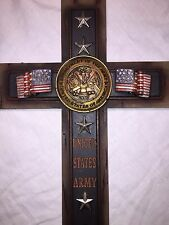 "US Army Cross Home Decor Wall Decoration Very Detailed 7""x12""- New In Box"