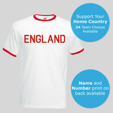 Euro 2016 England Custom Football Unofficial Ringer T-Shirt Tee Unisex New