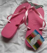 GENUINE BRAND NEW UNISEX HAVIANAS METALLIC PINK, MANY SIZES