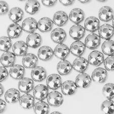 Round Alloy 500pcs Silver Spacer Loose Beads Handmade Fashion Jewelry 4mm 6mm