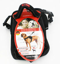 Patento Pet Dog Harness Padded With Dog Collar Black with Integrated Leash