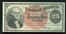 FR. 1303 25 CENTS FOURTH ISSUE FRACTIONAL CURRENCY ABOUT UNCIRCULATED