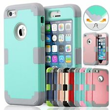 Heavy Duty Shockproof Rugged Rubber Hard Case Cover Skin For Apple iPhone5&5s SE
