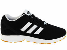 NEW MENS ADIDAS ORIGINALS ZX FLUX RUNNING SHOES TRAINERS BLACK / WHITE / GUM