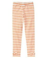 GYMBOREE HAPPY HARVEST ORANGE STRIPE N BOW HEM LEGGINGS 4 5 6 7 8 10 NWT