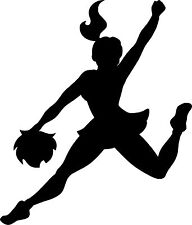 Cheerleader Cheer Jump - Car Window Laptop Vinyl Decal Sticker