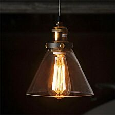 Modern Industrial Vintage Retro Glass Ceiling Lamp Shade Pendant Hanging Light