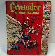 Vintage Whitman Crusader Stamp Collector Book w/ 68 Stamps
