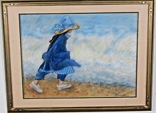 Young Girl on the Beach by Nancy Boudreau