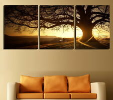 Sunset Big Tree Landscape Home Decor Art Painting Modern Picture Oil Canvas Wall