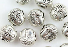 Wholesale 50/100pc 7x7mm Silver Buddha head Charm Spacer Bead jewelry finding