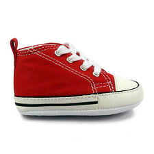 Baby Converse First Star Red Crib Trainers