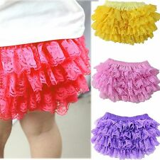 Cute Newborn Baby Infant Cotton Lace Ruffle Bloomers Diaper Nappy Cover Pants