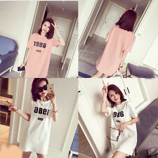 Fashion Women Cotton Short Sleeve T Shirt Simple letters Casual Tops  Summer