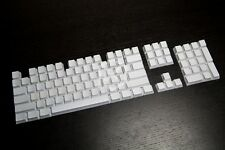White 60/87/104 Top/Side/Non PBT KeyCap Set printed for Cherry switch NPKC