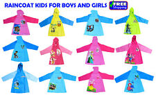 NEW SIZE 3-8 KIDS RAINCOAT JACKET HODDIE COVER BOYS GIRLS