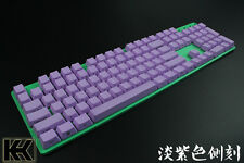Purple 60/87/104 Top/Side/Non PBT KeyCap Set printed for Cherry switch NPKC