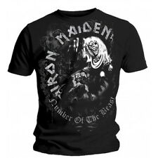 T-Shirt Iron Maiden - Number Of The Beast Grey Tone