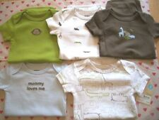 CARTERS 5 PACK BABY BOY'S BODYSUITS  NWT BLUE BROWN ANIMALS SO CUTE