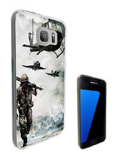 916 Army Scene Soldier Case Cover For Samsung Galaxy J1 J3 J5 A3 A5 S6 S7 Edge
