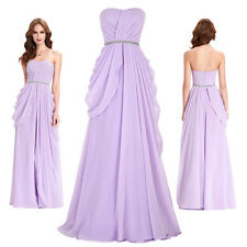 Women Chiffon Long Party Prom Bridesmaid Dress Ball Evening Formal Pageant Gown
