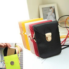 New Universal Leather Cell Phone Pocket Purse Shoulder Bags Pouch Case Handbag