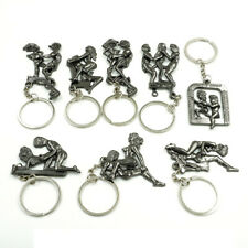 Sexy Lover Metal Keychain Keyring Key Ring Chain Funny Toy Adult Theme Erotic