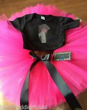 1st Birthday Black romper Girl any colour Tutu dress Fairy size 6-12 mth, 0