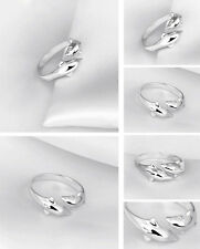Beatiful Solid Sterling Silver 2 Dolphin Ring Women's Fashion Jewelry Gift XW