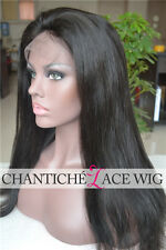 Indian Remy Human Hair Full Lace Wigs Black Women Silky Straight Lace Front Wigs