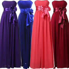 Elegant Long Women Formal Evening Party Bridesmaid Prom Ball Gown Wedding Dress