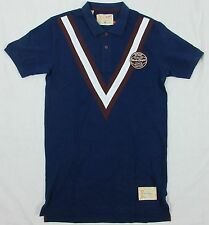 HAWKE & DUMAR DUMAR TENNIS LEAGUE POLO SHIRT NAVY SIZE: S, M