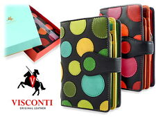 Ladies Purse Soft Leather Wallet Polka Dot Luxury Visconti New in Gift Box P1